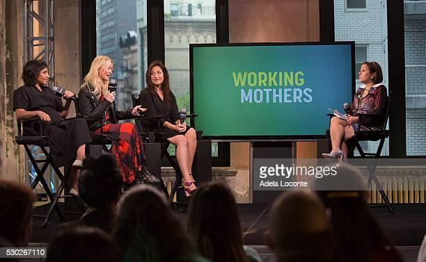 Shazi Visram Zanna Roberts Rassi Randi Zuckerberg and Alicia Ybarboat discuss Celebrate Working Mothers With Alicia Ybarboat at AOL Studios In New...