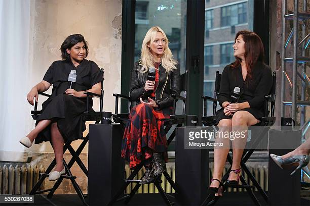 Shazi Visram Zanna Roberts Rassi Randi Zuckerberg discuss being a working mother at AOL Build Speaker Series with author Alicia Ybarbo on May 10 2016...