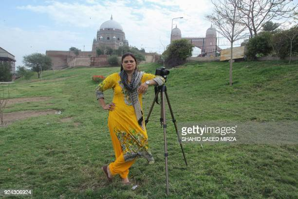 Shazia Bhatti an AFP videographer poses for a photograph in Multan on February 24 2018 A few years after I started working as a camerawoman in the...