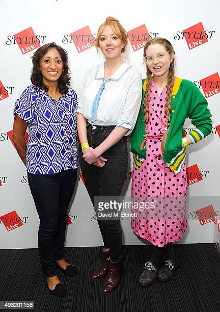 Shazia Mirza Diane Morgan and Jessie Cave attend day four of Stylist Magazine's first ever 'Stylist Live' event at the Business Design Centre on...