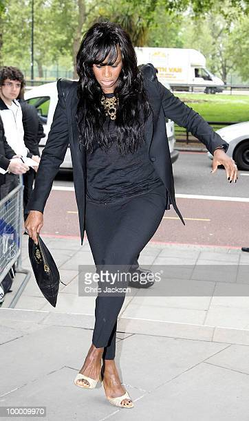 Shaznay Lewis arrives at the Ivor Novello Awards at Grosvenor House on May 20 2010 in London England
