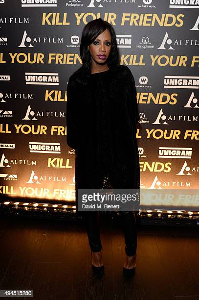 Shaznay Lewis attends the Al Films and Warner Music Screening of Kill Your Friends on October 27 2015 in London England