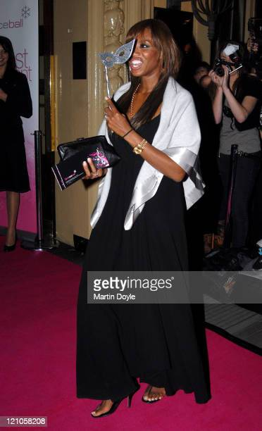 Shaznay Lewis attends the Pink Ice Ball October 5 2007 in London England