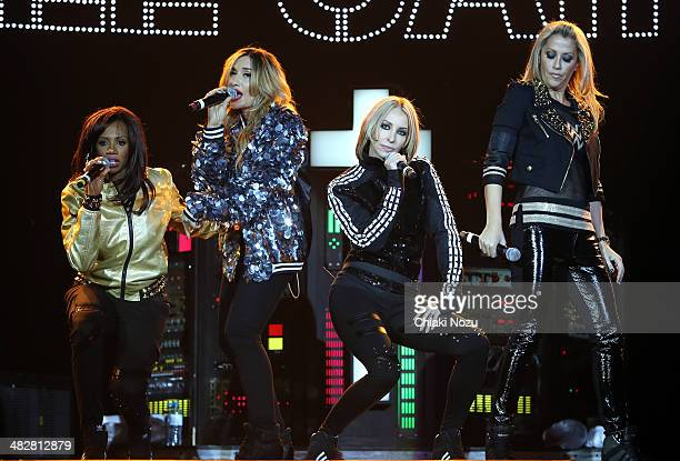 Shaznay Lewis Melanie Blatt Natalie Appleton and Nicole Appleton of All Saints perform at 02 Arena on April 4 2014 in London England