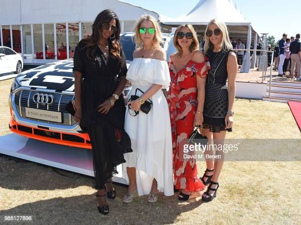 Shaznay Lewis Natalie Appleton Melanie Blatt and Nicole Appleton of All Saints attend the Audi Polo Challenge at Coworth Park Polo Club on June 30...