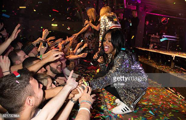 Shaznay Lewis of of All Saints perform on stage at GAY Club at Heaven on April 16 2016 in London England