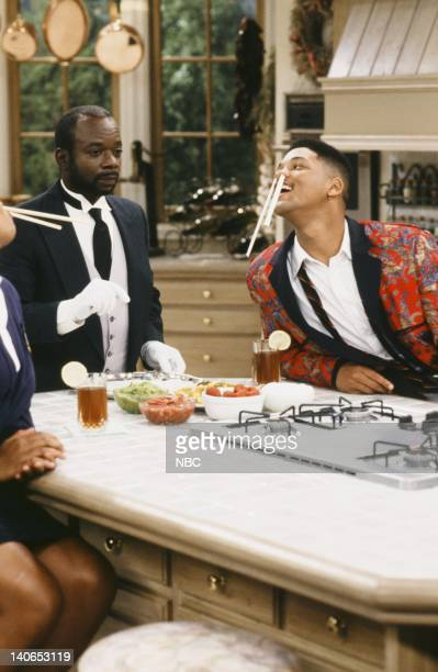 AIR 'She Ain't Heavy' Episode 8 Pictured Joseph Marcell as Geoffrey Will Smith as William 'Will' Smith Photo by Paul Drinkwater/NBCU Photo Bank