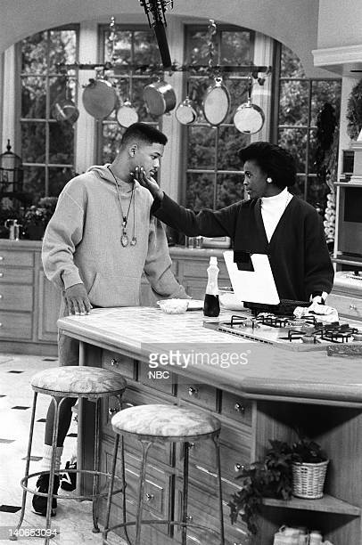 AIR She Ain't Heavy Episode 8 Pictured Will Smith as William 'Will' Smith Janet Hubert as Vivian Banks Photo by Paul Drinkwater/NBCU Photo Bank