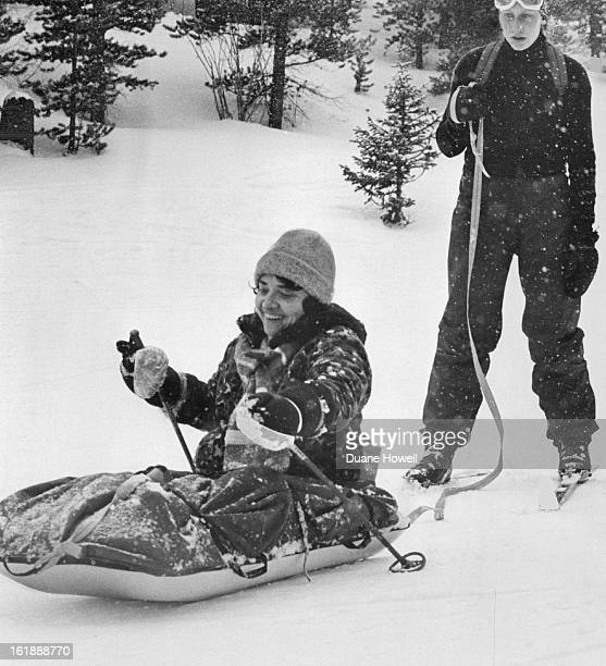 JAN 15 1980 She Benefits From A Day In The Outdoors Caroline Vogel of Boise Idaho takes a pulk lesson at the Breckenridge Outdoor Education Center...