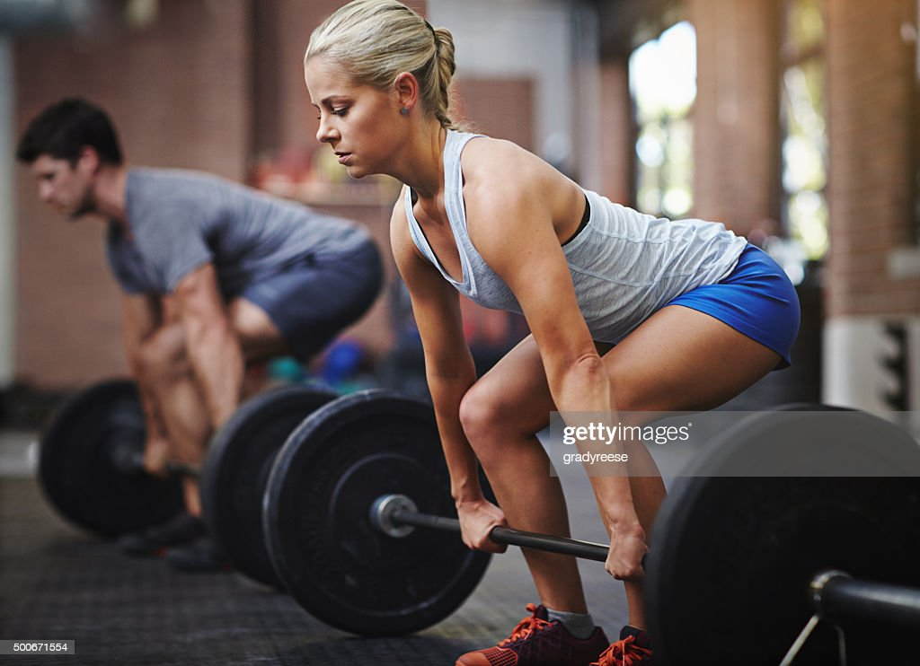 She can compete with anyone : Stock Photo