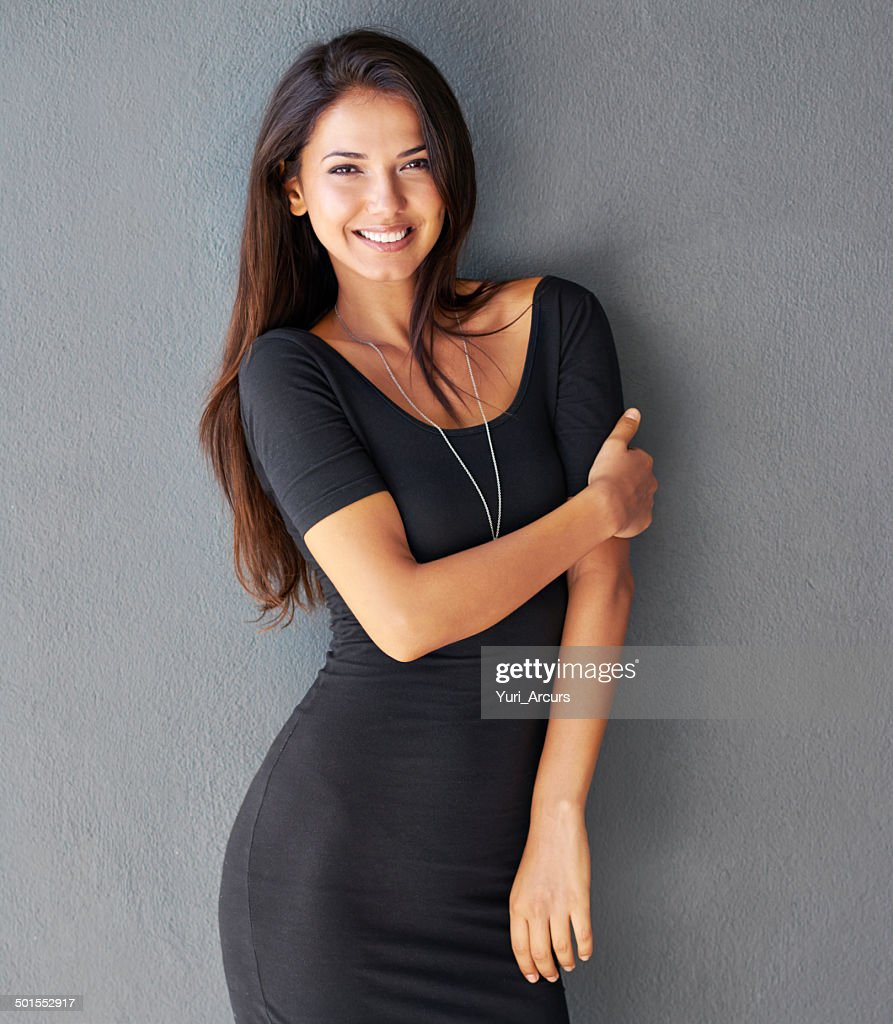 She can't wait for his arms to be around her : Stock Photo