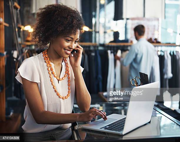 she enjoys her job - business owner stock photos and pictures
