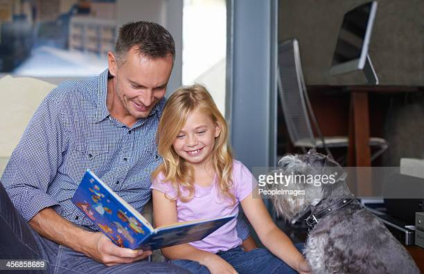 She enjoys listening to her father read