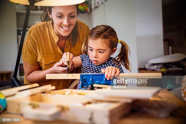 She Enjoys Woodwork