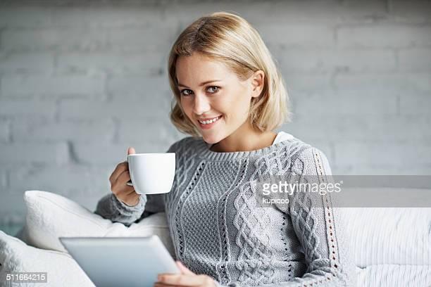 She found a perfect man, Mr. Coffee