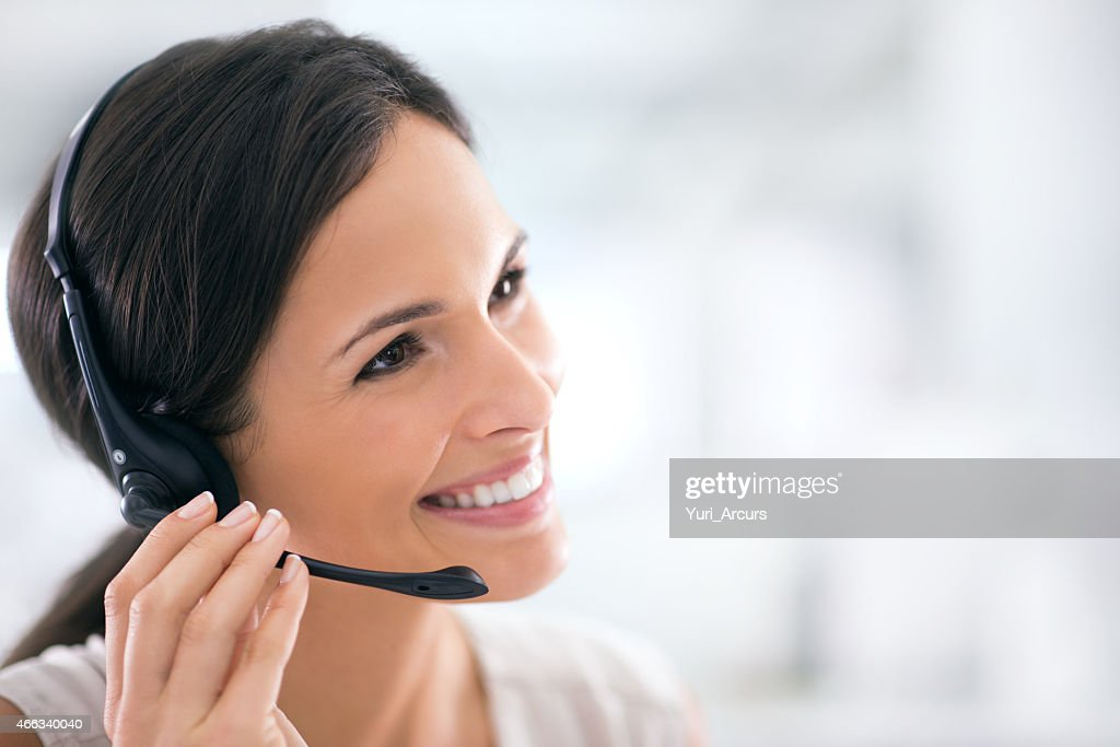 She goes the extra mile for her clients : Stock Photo