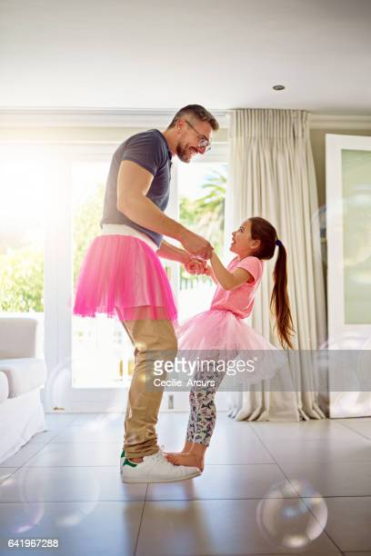 She got her moves from Dad
