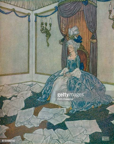 She had read all the newspapers in the world and had forgotten them again so clever is she 1912 Illustration for The Snow Queen in Stories from Hans...