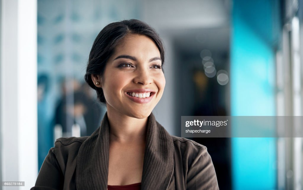 She has a multitude of qualities that many lack : Stock Photo