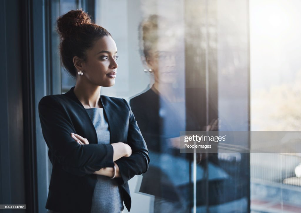She has the ambitious drive to never give up : Stock Photo