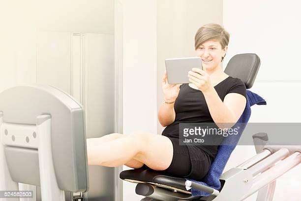 Sie Ihren trainingsplan sein, die auf einem tablet PC
