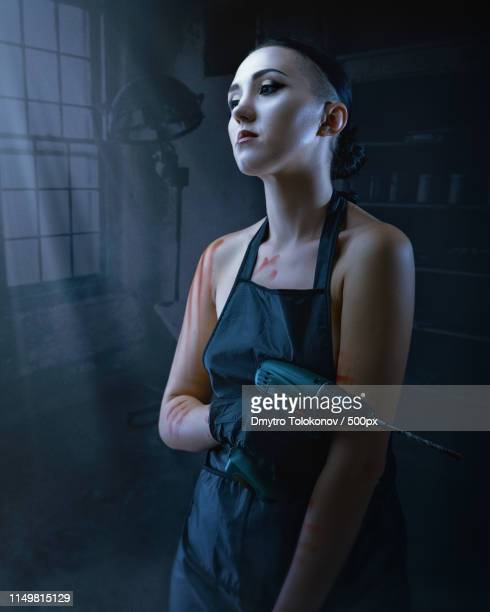 she is like a dexter - morgue woman stock pictures, royalty-free photos & images