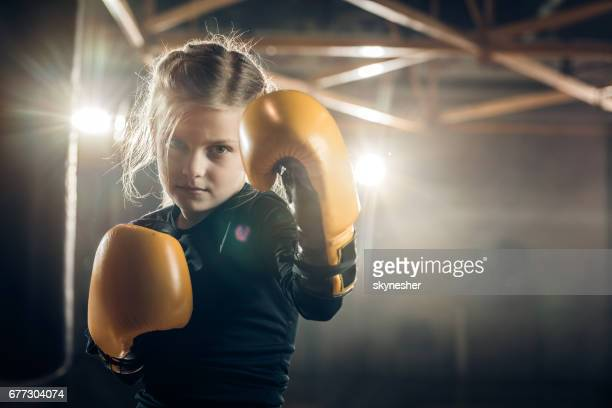 she is ready to knock out her opponent! - martial arts stock pictures, royalty-free photos & images