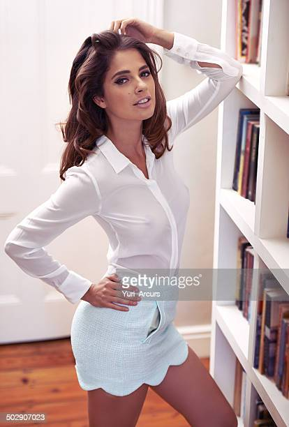 she knows exactly what she's doing - women in see through tops stock photos and pictures