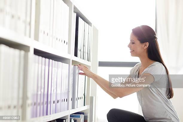 Sie weiß, wie Sie Ihr Büro organisiert