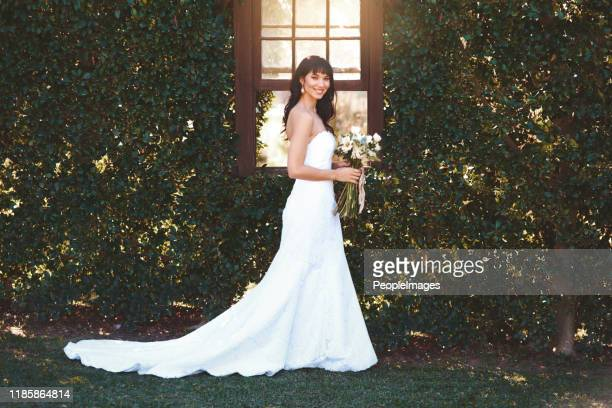 she looks beautiful on her special day - wedding dress stock pictures, royalty-free photos & images