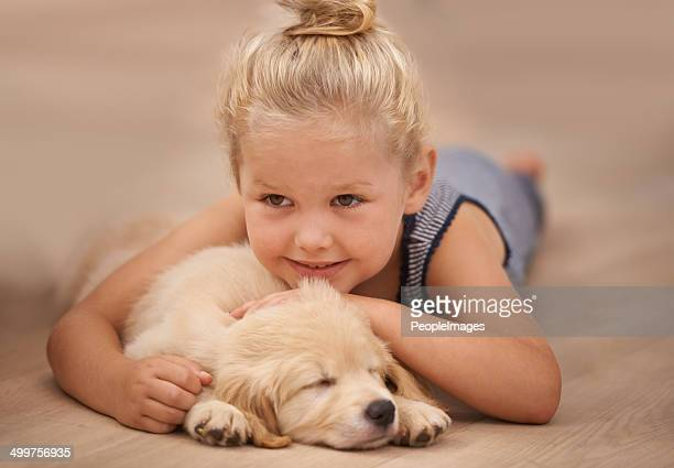 she love watching her puppy sleep - hairy girl stock pictures, royalty-free photos & images