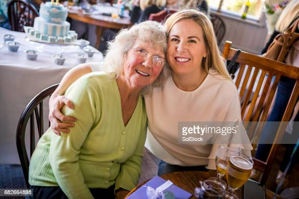 she loves her grandma - british granny stock photos and pictures
