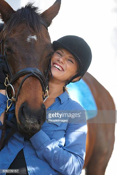 She loves her horse
