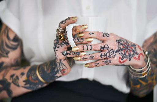She loves her tattoos 518718017