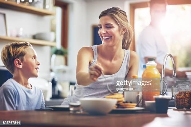 She loves taking care of her son
