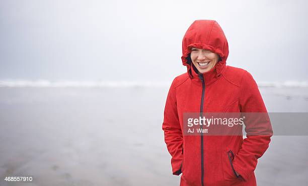She loves the beach in any weather