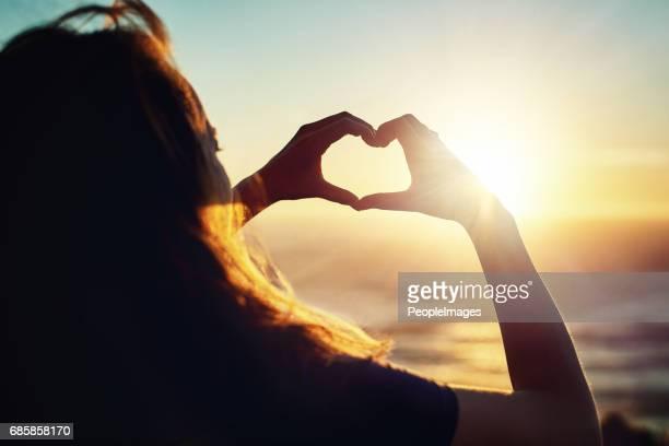 She loves the sunset