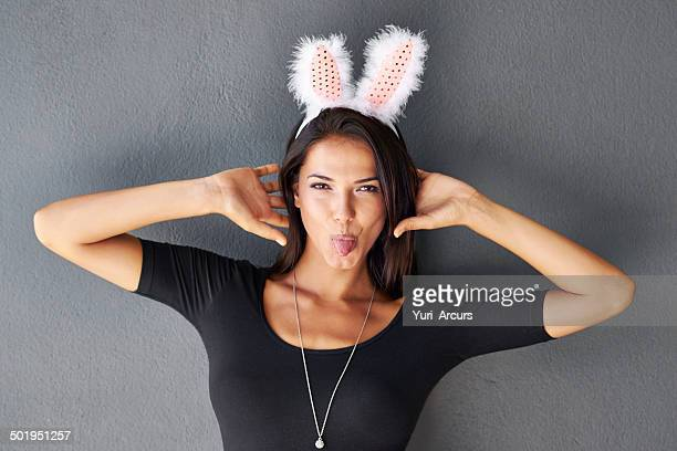 she loves to show her fun side - woman long tongue stock photos and pictures