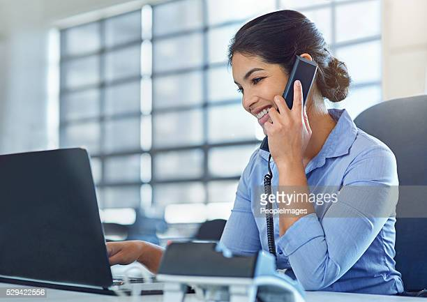 she makes multitasking look like a breeze - secretary stock photos and pictures
