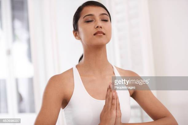 she meditates daily - peopleimages stock pictures, royalty-free photos & images