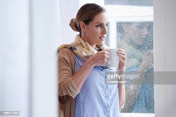 She starts every day with a fresh cup of coffee