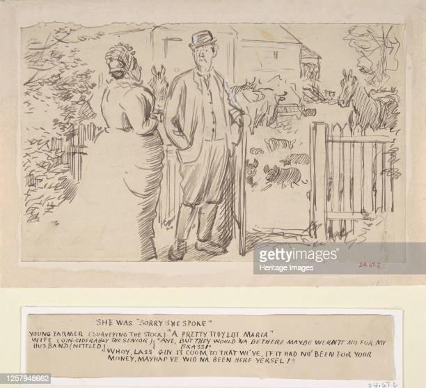 She was Sorry She Spoke 18701891 Artist Charles Samuel Keene