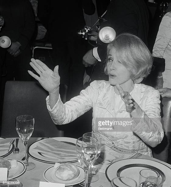She Wowed 'Eme New York New York The indefatigable Marlene Dietrich gestures expressively as she discusses the opening night of her New York stage...