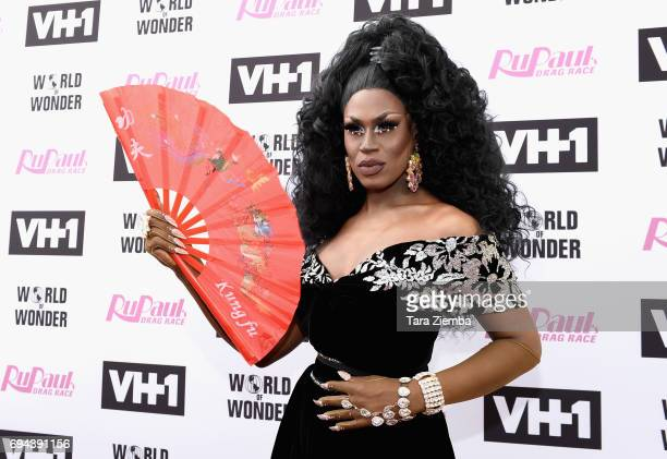 Shea Coulee arrives at 'RuPaul's Drag Race' Season 9 Finale Taping at Alex Theatre on June 9 2017 in Glendale California