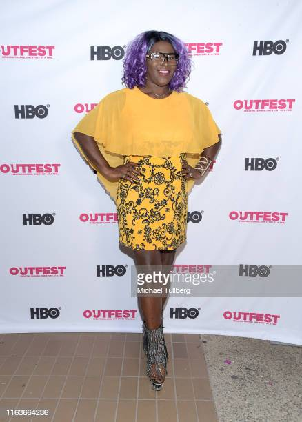 Shea Diamond attends a screening of The Garden Left Behind at the 2019 Outfest Los Angeles LGBTQ Film Festival at Margo Albert Theatre on July 22...