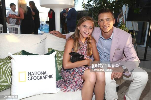 Shea Hephner and Jeff Hephner attend the National Geographic's Annual Summer Party at Waldorf Astoria Beverly Hills on July 24 2018 in Beverly Hills...