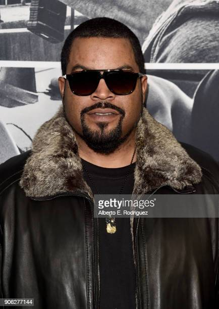 Shea 'Ice Cube' Jackson attends the premiere of STX Films' 'Den of Thieves' at Regal LA Live Stadium 14 on January 17 2018 in Los Angeles California