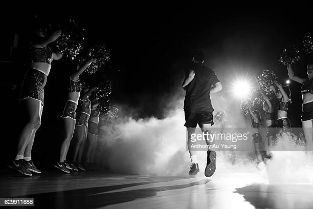Shea Ili of the Breakers runs out during the players introduction during the round 11 NBL match between New Zealand Breakers and Perth Wildcats at...
