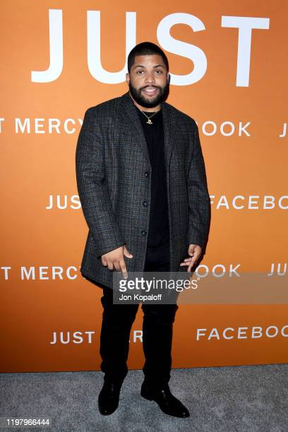 Shea Jackson Jr attends the LA Community Screening of Warner Bros Pictures' Just Mercy at Cinemark Baldwin Hills on January 06 2020 in Los Angeles...