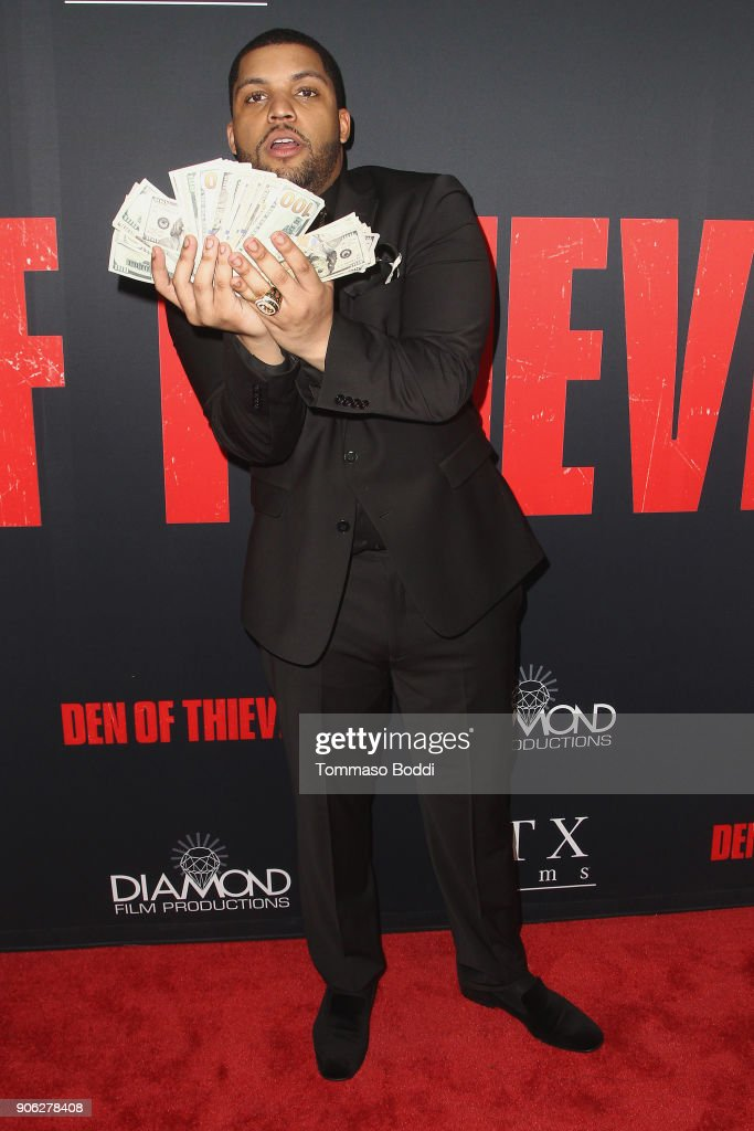 O'Shea Jackson Jr. attends the Premiere Of STX Films' 'Den Of Thieves' at Regal LA Live Stadium 14 on January 17, 2018 in Los Angeles, California.